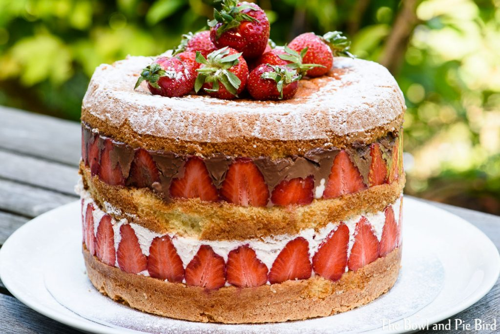 Fruity Creamy Strawberry Birthday Cake Thebowlandpiebird