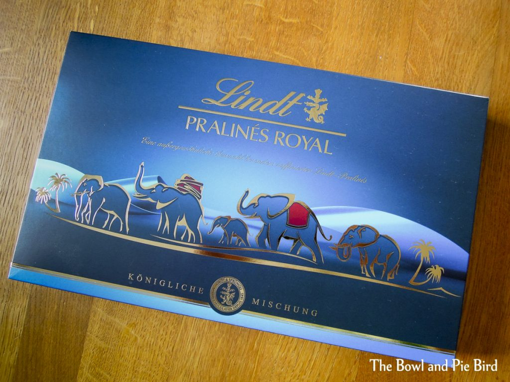 Box of Lindt chocolates with elephants
