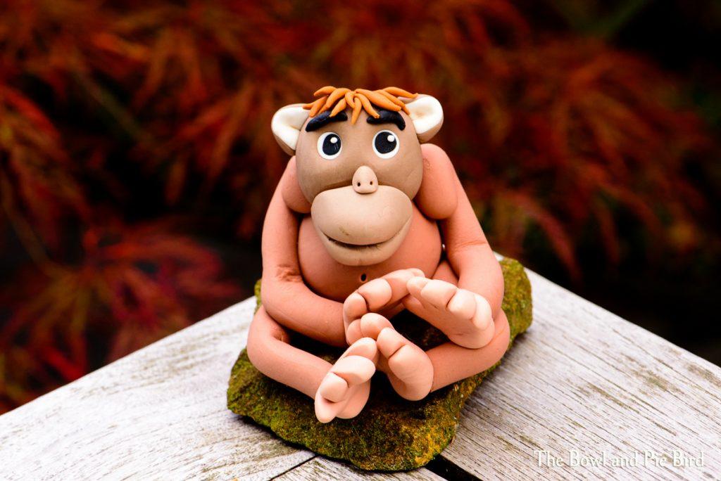 Orangutan made from sugar paste